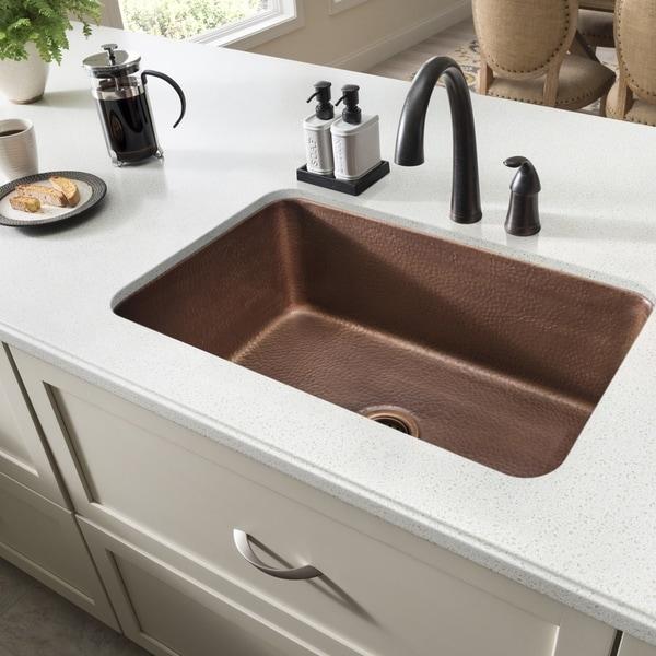 Sinkology O X27 Keefe Undermount 30 Single Bowl Kitchen Sink Brown