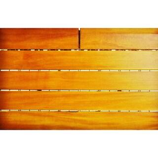 EcoDeck Garapa Wood Golden Cherry Straight Trim Plus Style Interlocking Deck Trim (Pack of 13)