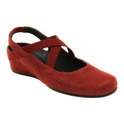 Women's VANELi Marjory Slingback Wedge Red Lizprint