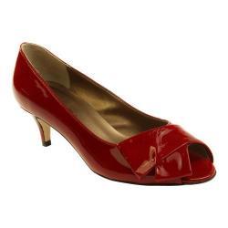 Women's VANELi Ullie Peep-Toe Pump Red Krinkle Patent