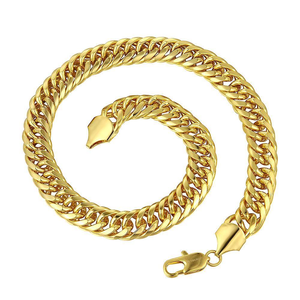 Vienna Jewelry Gold Plated Interlocking Spiral Chain Necklace