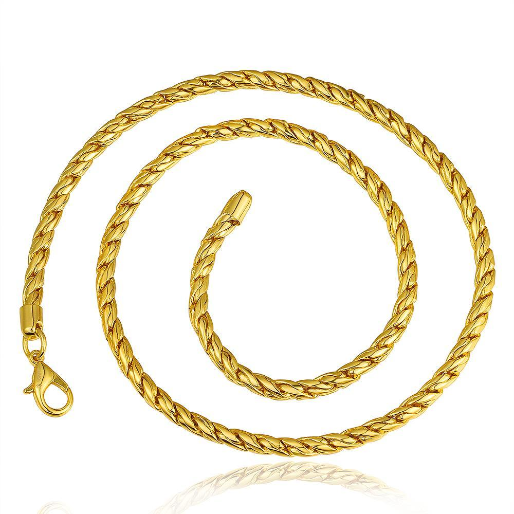 Vienna Jewelry Gold Plated Mini Petite Intertwined Chain Necklace