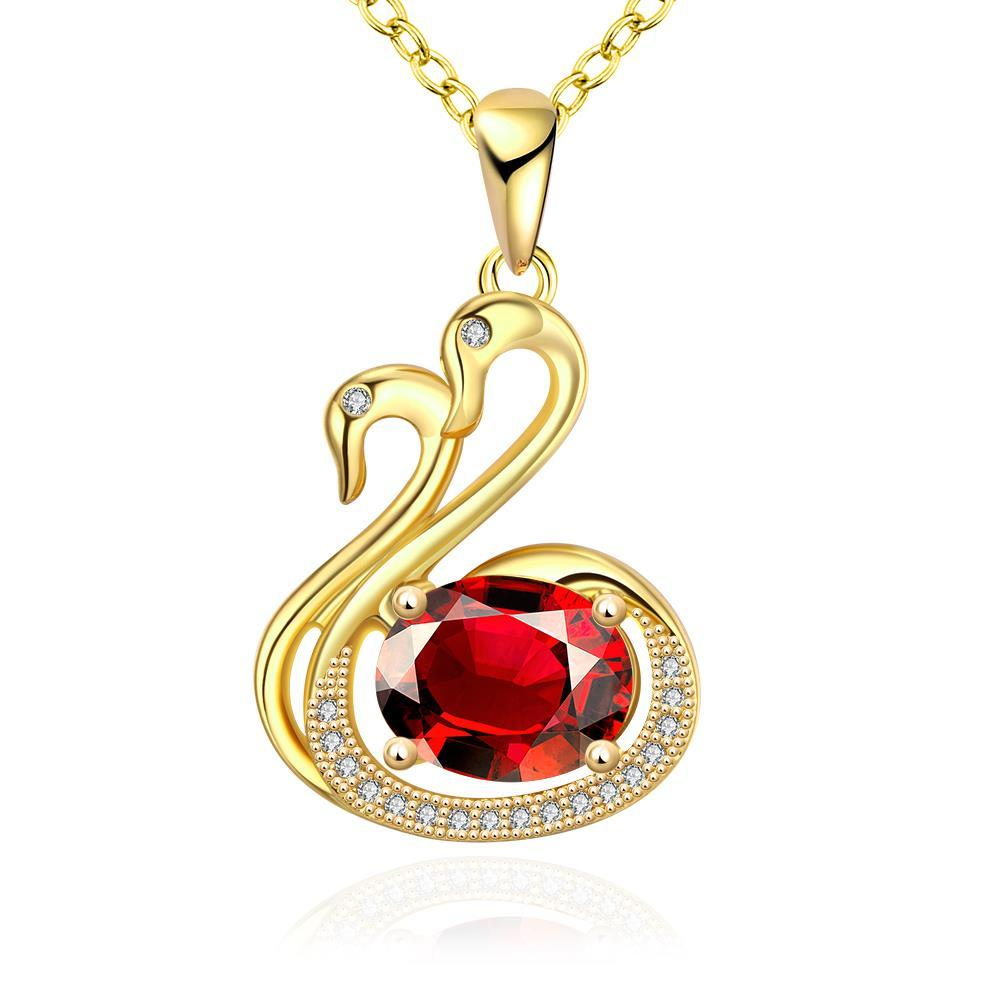 Vienna Jewelry Gold Plated Peacefull Dove Necklace