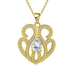 Vienna Jewelry Gold Plated Tiffany Inspired Classic Necklace - Thumbnail 0