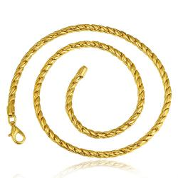 Vienna Jewelry Gold Plated Mini Petite Intertwined Chain Necklace - Thumbnail 0