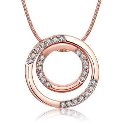 Vienna Jewelry 18K Rose Gold Plated Geometric Necklace - Thumbnail 0