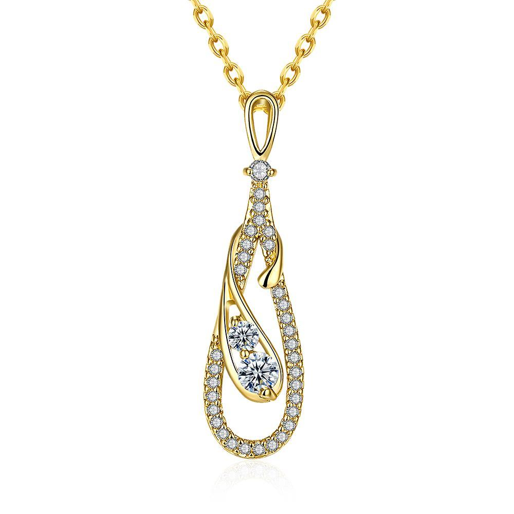Vienna Jewelry Gold Plated Dangling * Pendant Necklace