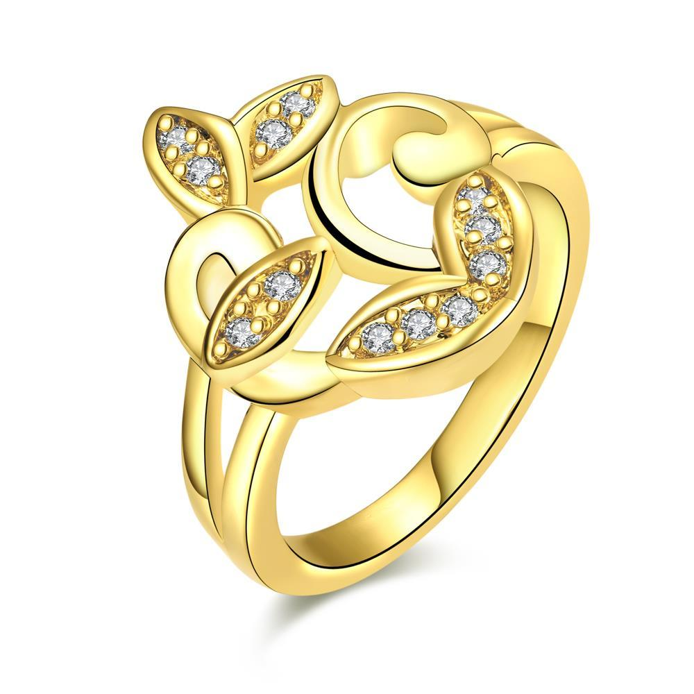 Vienna Jewelry Gold Plated Apple Bottom Design Ring