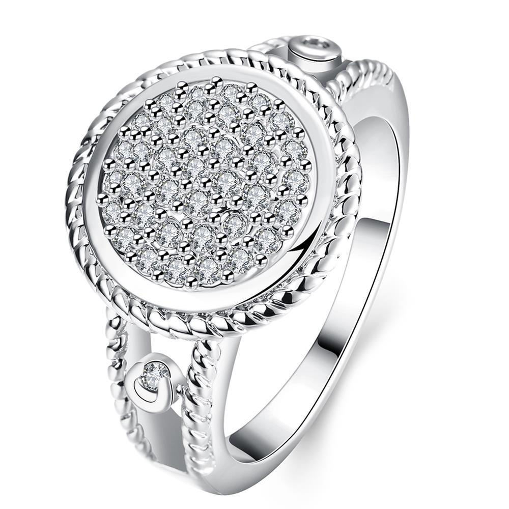 Vienna Jewelry Gold Plated Circular Jewels Ring