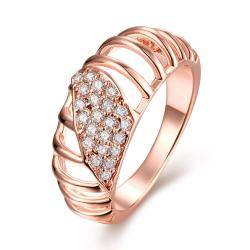Vienna Jewelry Gold Plated Laser Cut Jewels Ring - Thumbnail 0