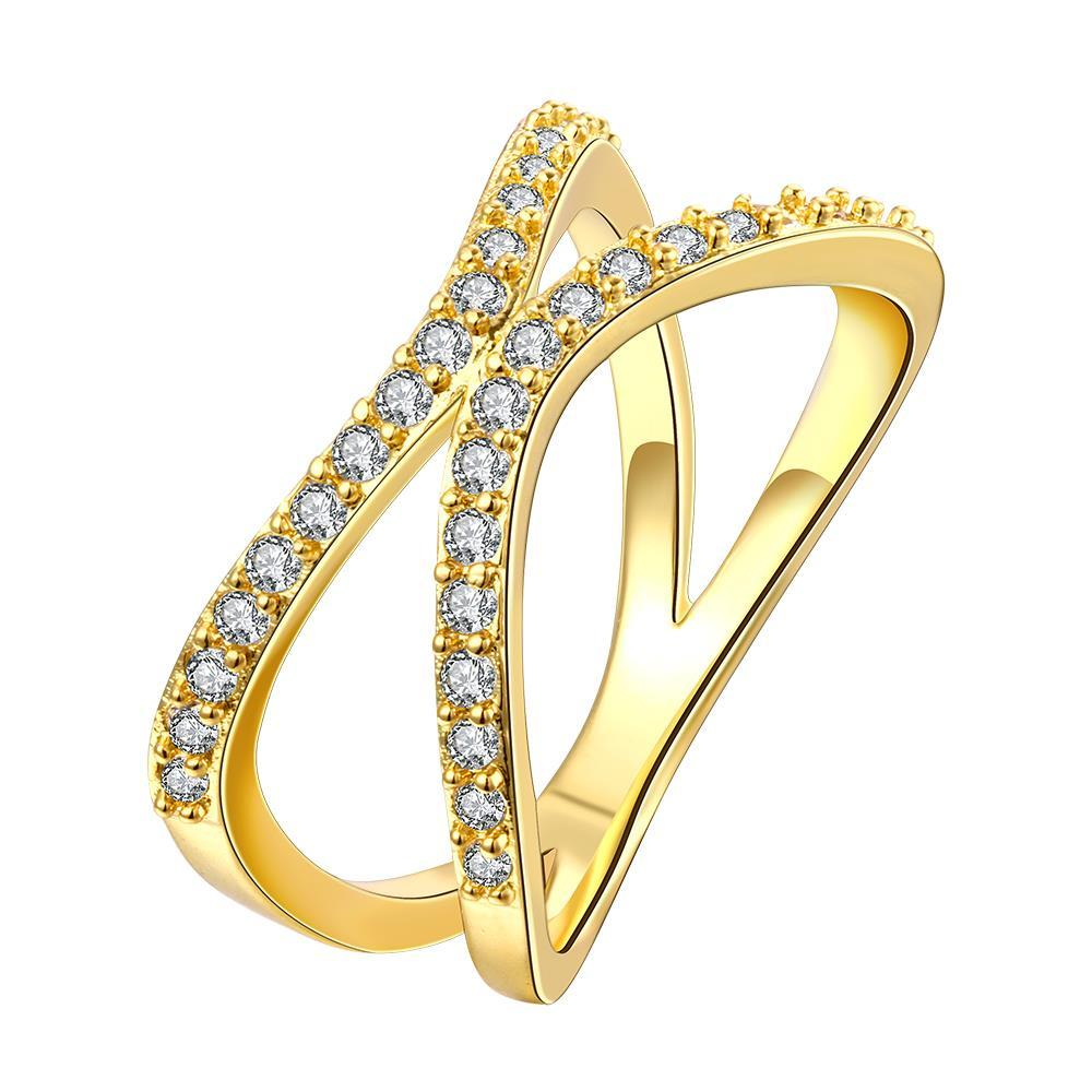 Vienna Jewelry Gold Plated Open Ended Knot Ring - Thumbnail 0
