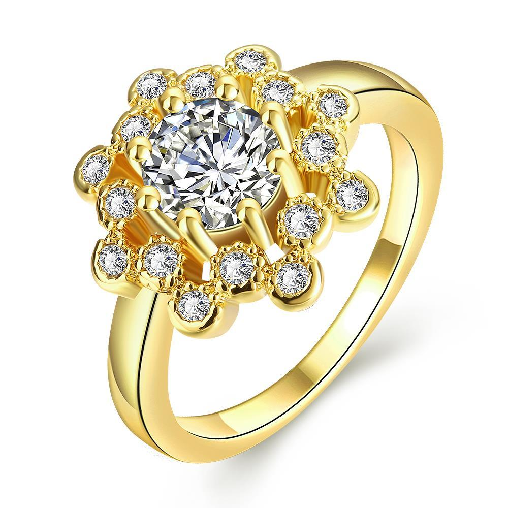 Vienna Jewelry Gold Plated Crystal Infused Ring