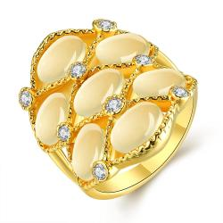 Vienna Jewelry Gold Plated Pearl Covering Crown Ring Size 7 - Thumbnail 0