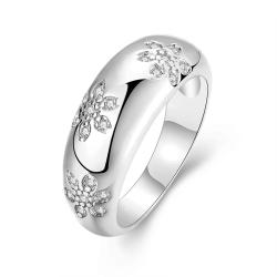 Vienna Jewelry Gold Plated Floral Inprint Ring - Thumbnail 0