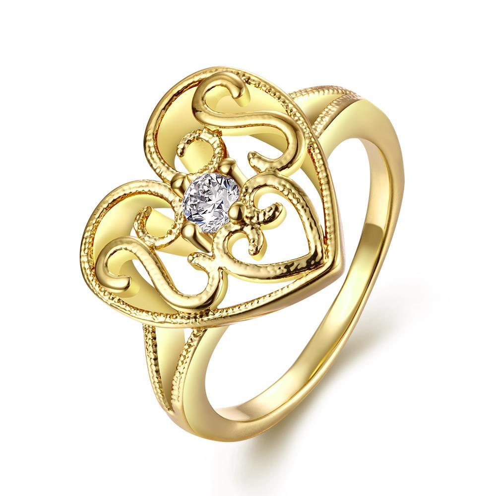 Vienna Jewelry Gold Plated Laser Cut Valentines Love Heart