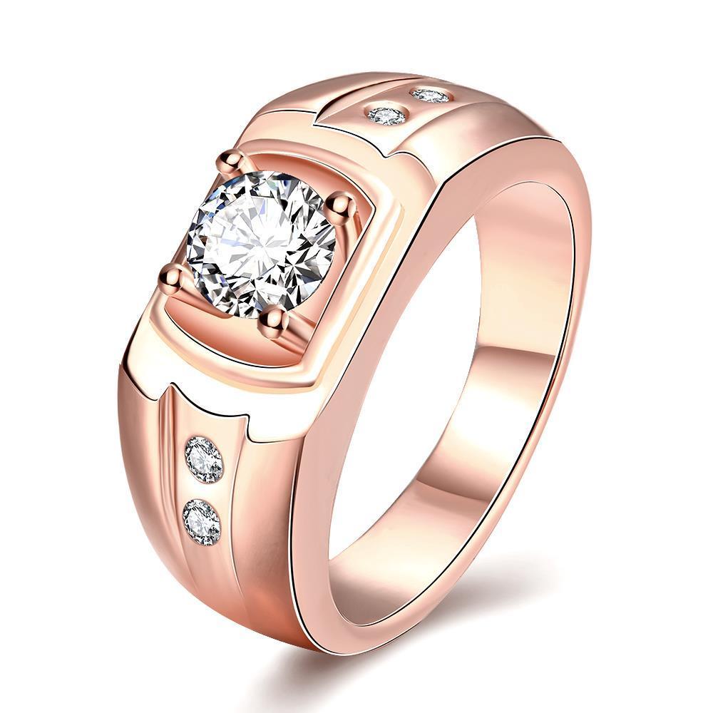 Vienna Jewelry Gold Plated Wedding Band with Jewel Insert