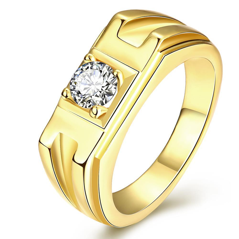 Vienna Jewelry Gold Plated Crystal Channel Band Ring