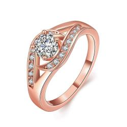 Vienna Jewelry Gold Plated Crystal Jewels Centerpiece Ring - Thumbnail 0