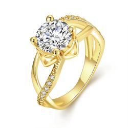Vienna Jewelry Gold Plated Classic Paris Inspired Ring - Thumbnail 0