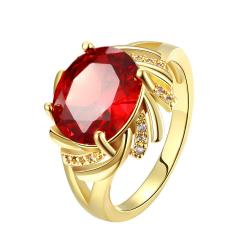 Vienna Jewelry Gold Plated Gemstone Cluster Ring - Thumbnail 0