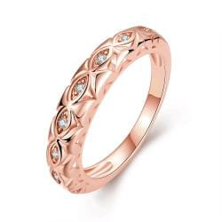 Vienna Jewelry Gold Plated Classic London Ring - Thumbnail 0