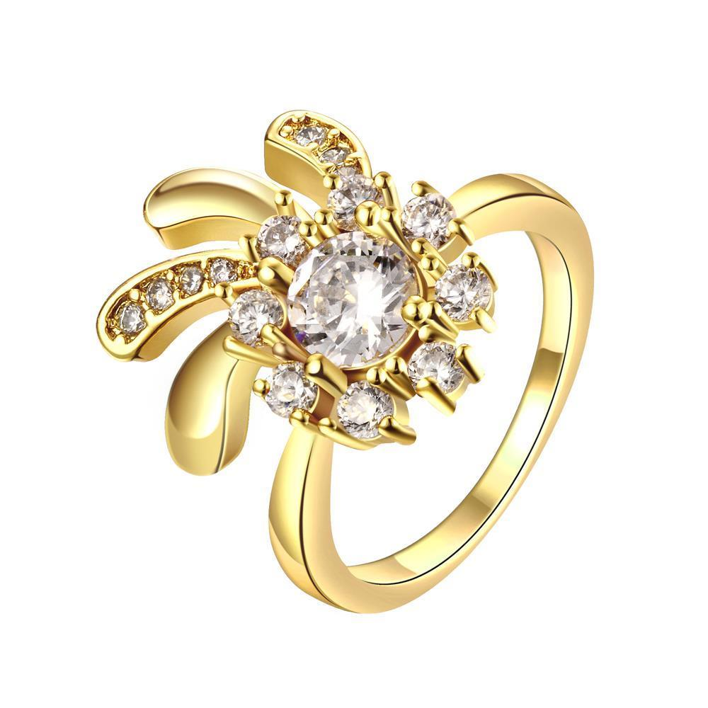 Vienna Jewelry Gold Plated Blossoming Daisy Ring