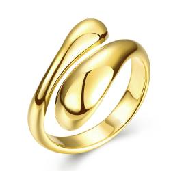 Vienna Jewelry Gold Plated Matrix Cut Ring - Thumbnail 0