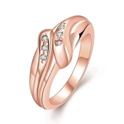 Vienna Jewelry Gold Plated Matrix Love Knot Ring - Thumbnail 0