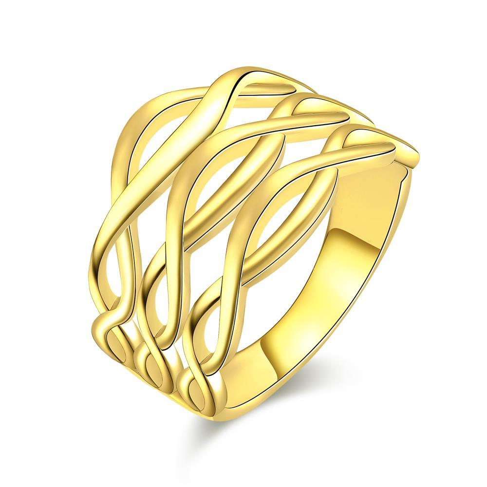 Vienna Jewelry Gold Plated Horizontal Infused Ring