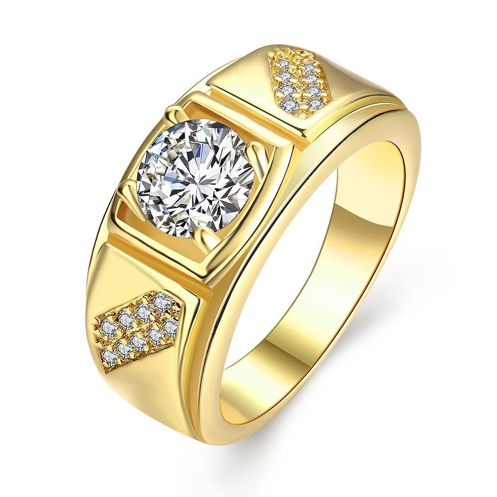 Vienna Jewelry Gold Plated Split Shank Promise Ring