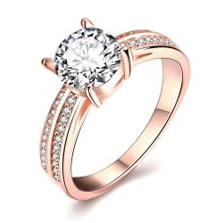 Vienna Jewelry Rose Gold Plated Madison Ave Inspired Ring - Thumbnail 0
