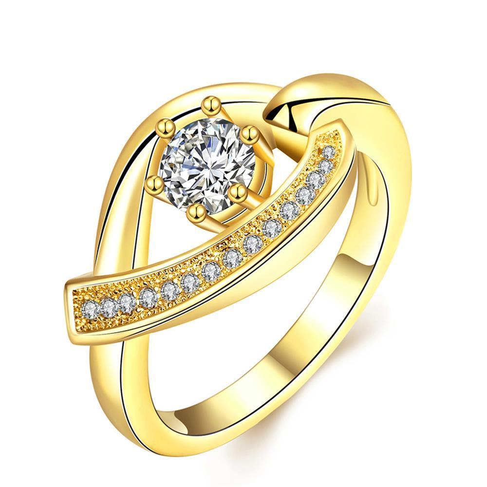Vienna Jewelry Gold Plated Lucky Horseshoe Ring