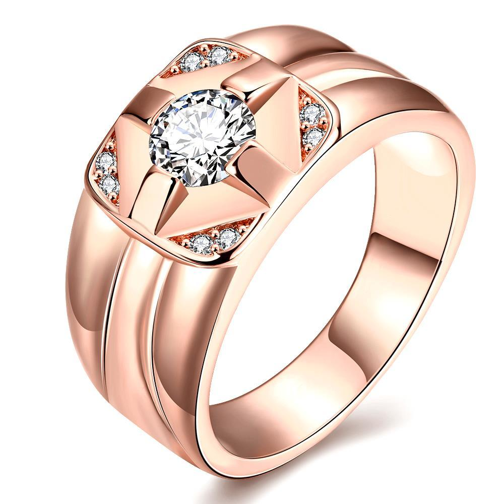 Vienna Jewelry Gold Plated Cluster Crossover Ring