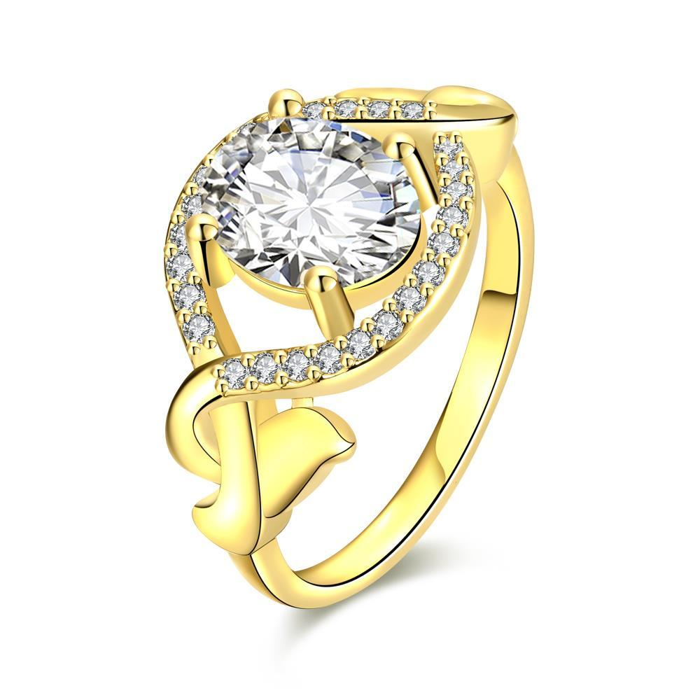 Vienna Jewelry Gold Plated Downtown Abby Inspired Ring