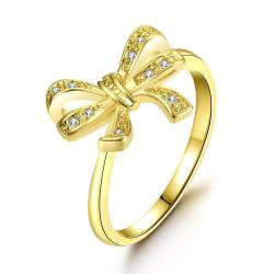 Vienna Jewelry Gold Plated Love Knot Ring - Thumbnail 0