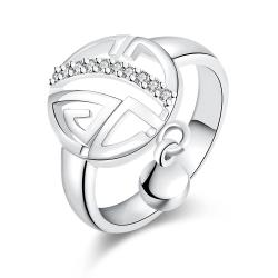 Vienna Jewelry White Gold Plated Clock Wise Ring - Thumbnail 0