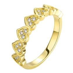Vienna Jewelry Gold Plated Full of Love Inspired Ring - Thumbnail 0
