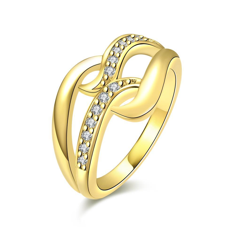 Vienna Jewelry Gold Plated Double Infinite Loop Ring