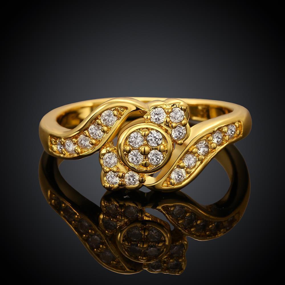 Vienna Jewelry Gold Plated Matrix New York Design Ring