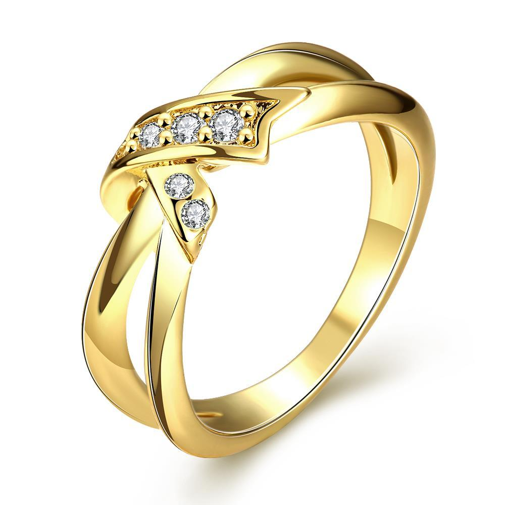 Vienna Jewelry Gold Plated Bow-Tie Ring