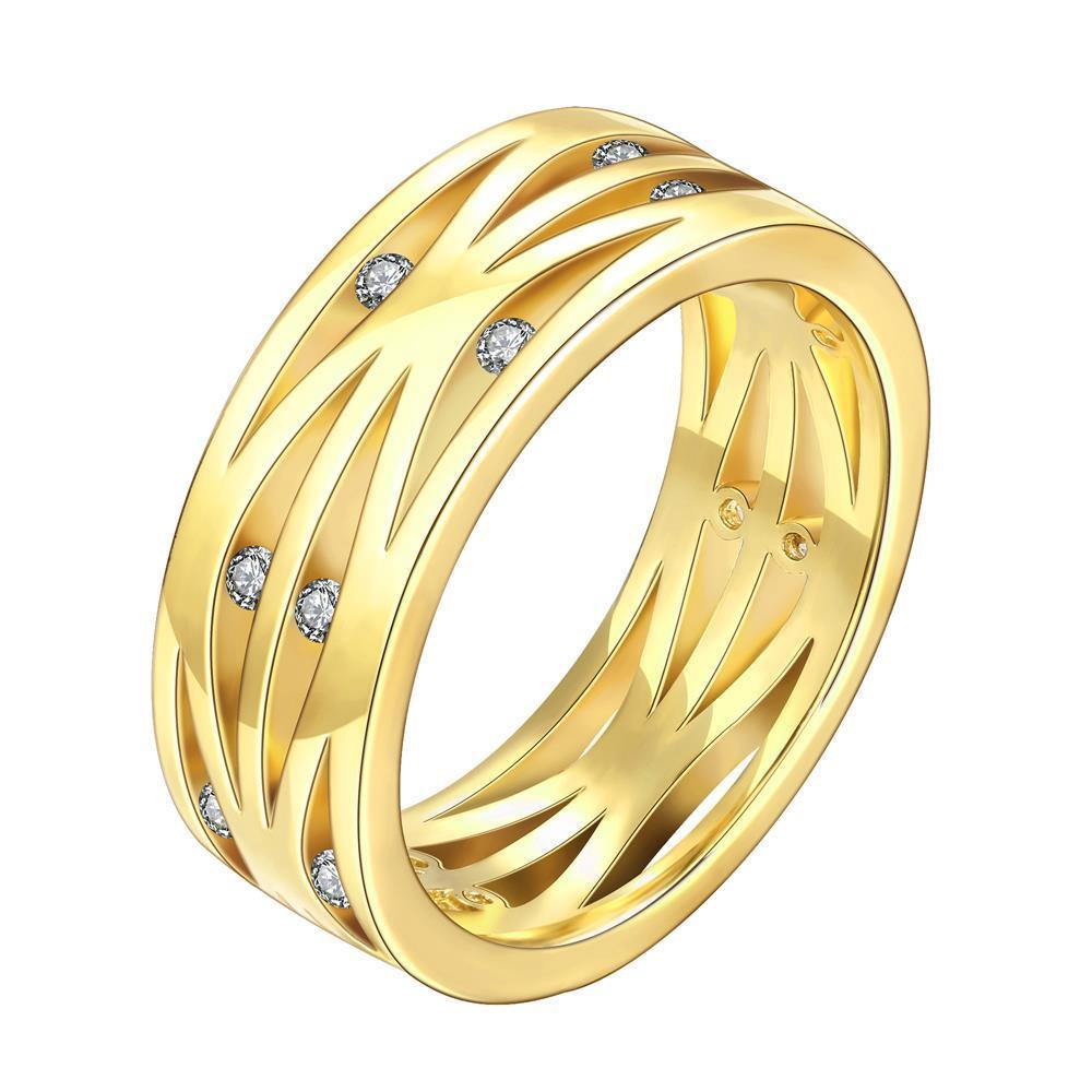 Vienna Jewelry Gold Plated Classical London Inspired Ring