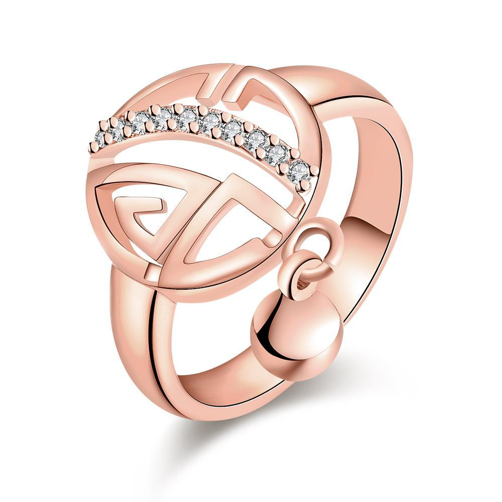 Vienna Jewelry Rose Gold Plated Clock Wise Ring
