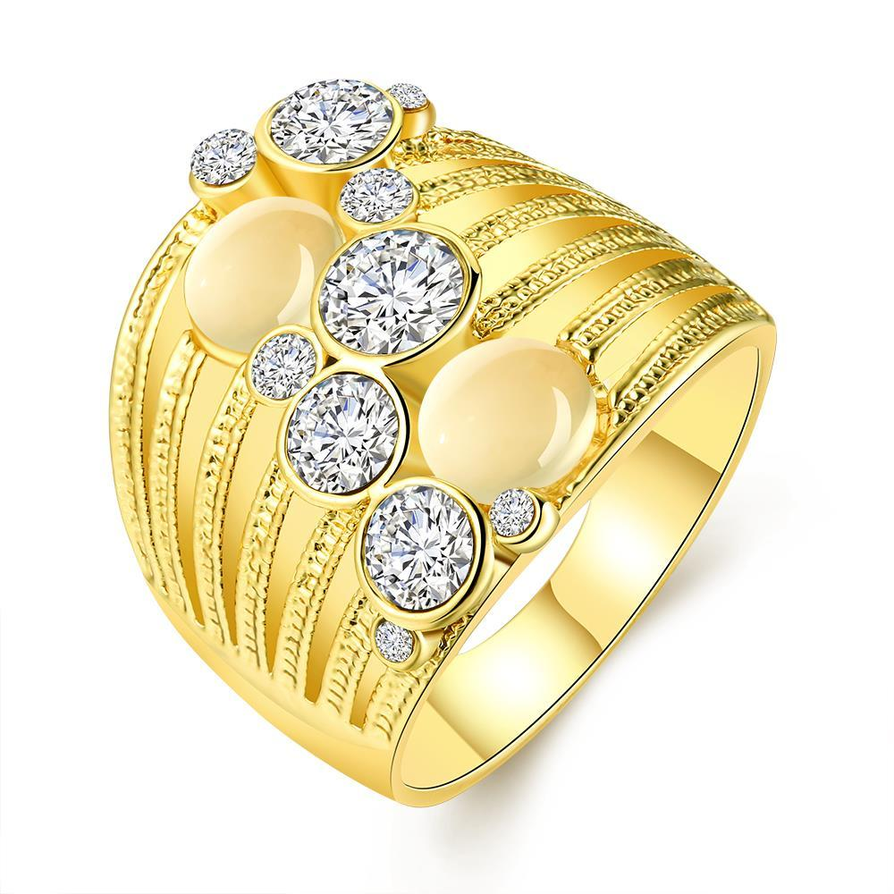 Vienna Jewelry Gold Plated Crystal Ball Lining Covering Ring Size 7