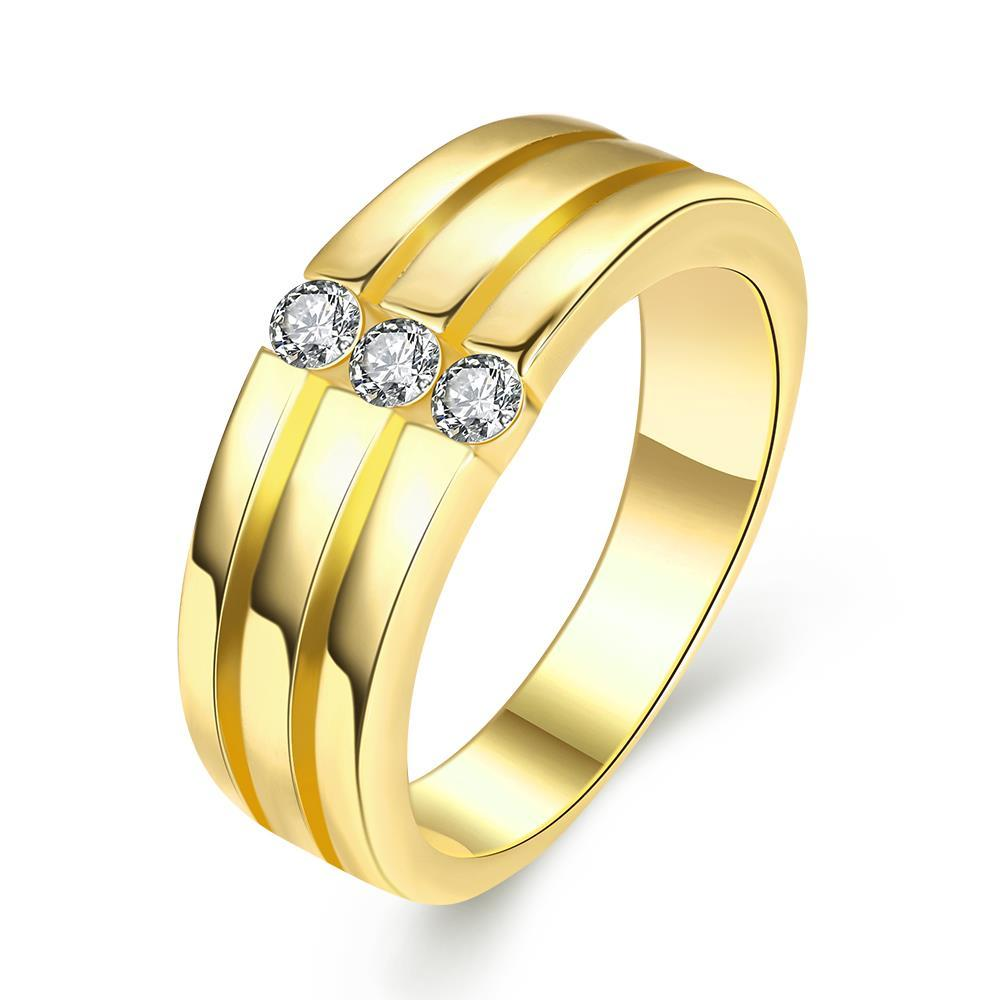 Vienna Jewelry Gold Plated Trio-Wedding Bands Rings