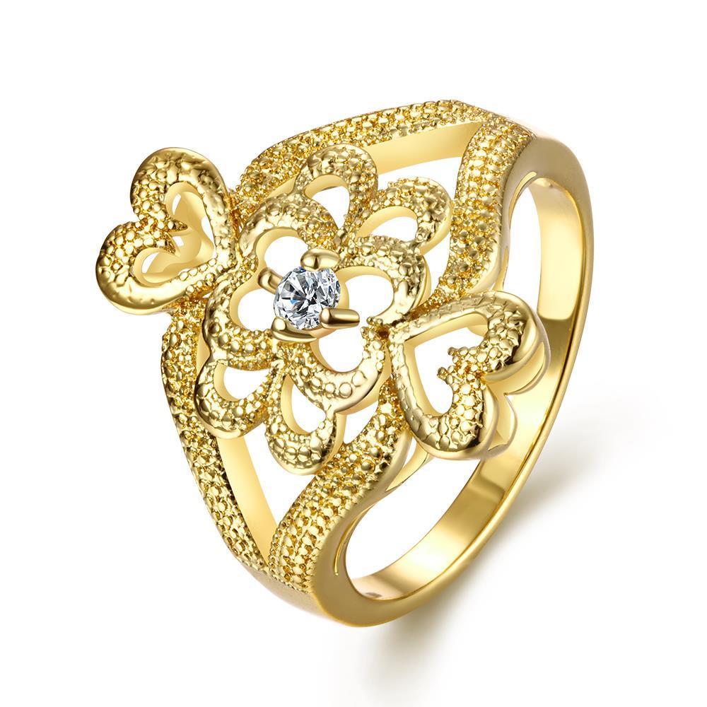 Vienna Jewelry Gold Plated Ancient Greek Inspired Ring