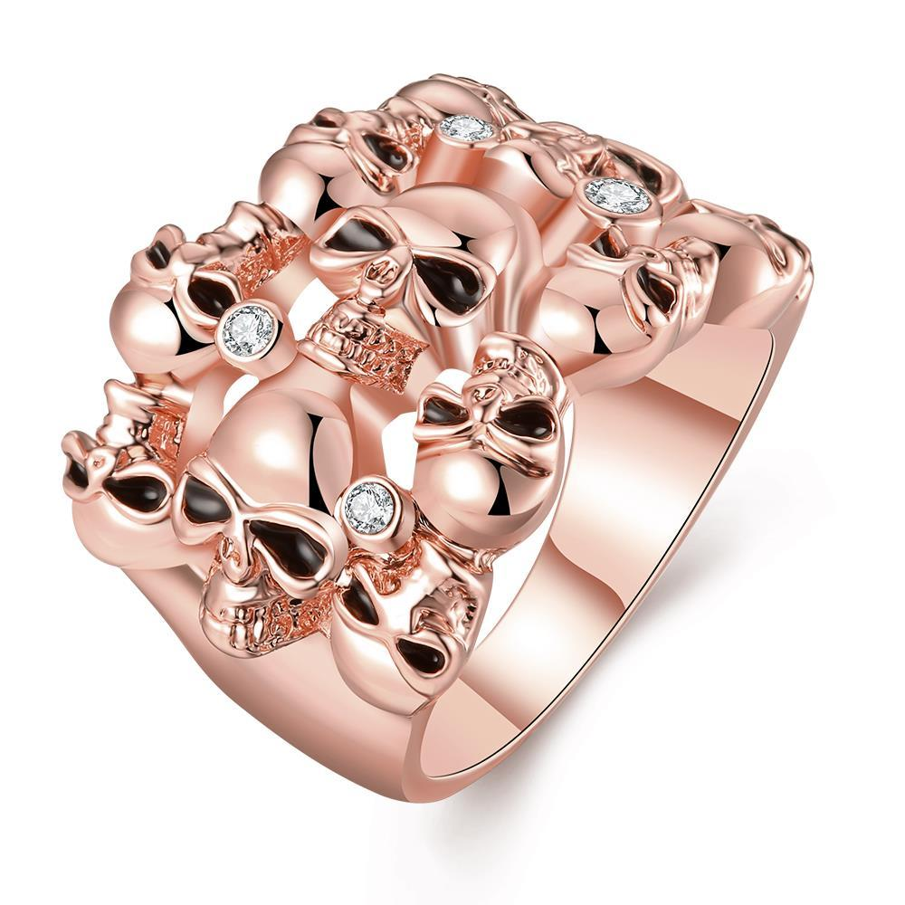 Vienna Jewelry Rose Gold Plated Multi Floral Orchid Ring Size 8
