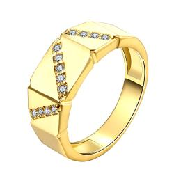 Vienna Jewelry Gold Plated Numbers of the Dice Inspired Ring - Thumbnail 0