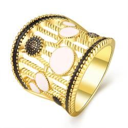 Vienna Jewelry Gold Plated Laser Cut Crown Ring Size 8 - Thumbnail 0