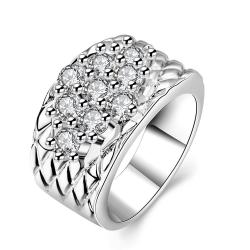 Vienna Jewelry White Gold Plated Classic Royalty Inspired Ring - Thumbnail 0