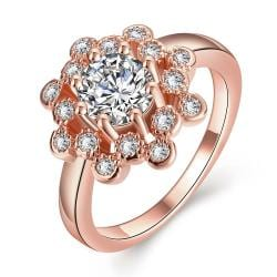 Vienna Jewelry Gold Plated Crystal Infused Ring - Thumbnail 0
